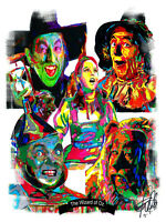 The Wizard of Oz Dorothy Toto Wicked Witch Scarecrow Tin Man Lion Print 8.5x11