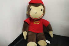 Vintage Curious George Toy Network Plush Stuffed 13 Inch Monkey