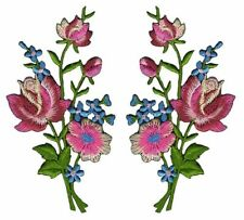 Applikation 40mm Aufnäher 10 Blumen Satin