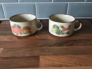2 x Vintage Shell Garage Promo Soup Bowl/Mug/Cup - Tomato & Celery.