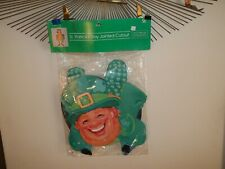 "Vtg New Jointed 33"" Leprechaun Die Cut St Patricks Day Wall Decoration"