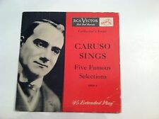 RARE- ENRICO CARUSO -CARUSO SINGS (45 EPA +  PICTURE SLEEVE)  N  MINT / VG+