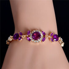 Hot Sale Gorgeous Lady's Jewelry 18K Gold Plated Austrian Crystal Cuff Bracelet
