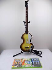 Like New Xbox 360 Guitar Hero Beatles Hofner Wireless Controller + 3 Games