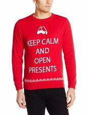 Alex Stevens Men's Keep Calm and Open Presents Ugly Christmas Sweater XXL