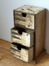 Jewelry Box, Mini Chest Of Drawers. Music Decoration Apothecary Cabinet. Brown