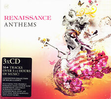 RENAISSANCE ANTHEMS - 3X CDS MIXED OLDSKOOL RAVE 90S CLASSICS CD KISSTORY CDJ DJ