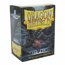 100 Protective Sleeves Dragon Shield Magic Matte Black Bustine protettive Nero