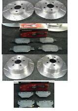 Toyota Celica 1.8 Vvti 140bhp 1999-02 Disco De Freno Perforados acanalado Mintex almohadillas FR R