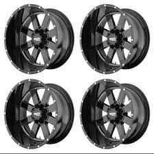MOTO METAL MO962 MO96281068324N RIMS SET OF 4 18X10 -24MM OFFSET 6X5.5 G-BLACK
