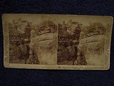 Stereoview 1897 Greco-Turkish War ARMED MONK/INSURGENT Monastery Meteora Greece