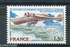 FRANCE 1978, timbre aérien n° 51, AVION, ANNIVERSAIRE 1° LIAISON POSTALE, neuf**