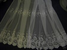 "Leaf embroidered voile made to size Up to 108"" drop"