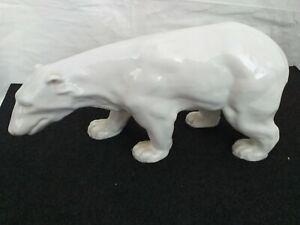 Porzellan-Figur, Eisbär 34cm breit x 16cm hoch
