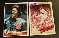 Dennis Eckersley 1979 Topps #40 and 1980 #320 - Red Sox