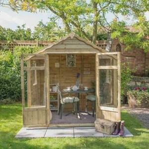 Forest 7x5 Oakley Fully Glazed Summerhouse -  Assembly Available