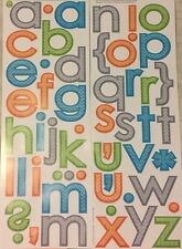 PATTERNED LETTERS punctuation wall stickers 58 decals Alphabet ABC decor neutral