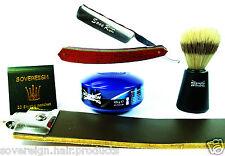 Conjunto De Afeitado para Hombres Corte Garganta. 5 piezas Juego de regalo de afeitar.. rápido y gastos de envío gratis