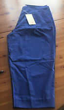 Matthew Williamson For h&m pantalones capri pantalones azul bordado EUR talla 40 size us 10