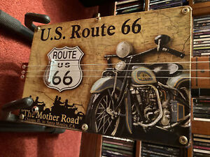 Route 66 Cigar Box Guitar, 3 string fretless, pickup.  Well made & ex condition