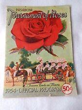 Vintage 1954 Pasadena Tournament of Roses Official Program