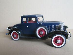 232O Hubley 4861 USA Chevrolet Coupé Modell Aus 1932 Blau 1:20 Set Aufgebaut IN