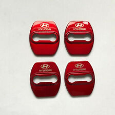 Red Stainless steel Door Strikers Lock Buckle Cap Protective Cover For Hyundai