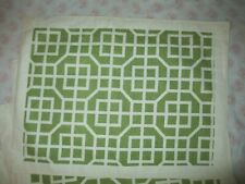 New listing New-Set Of 4 Placemats-Green Ivory Geometric Print