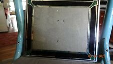 Art deco black and green picture frame