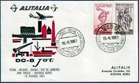 "1961 - Volo inaugurale ALITALIA ""Roma-Buenos Aires"" - 16.06.1961 - cat. n.1411"