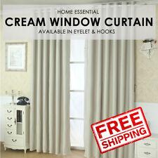 Sunlight Blackout Room Darkening Curtains 2 Panel Set- Cream Size S