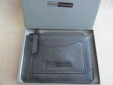 NEW Anne Furbank Silver Grey Leather Purse Season Ticket Coins Boxed Great Gift