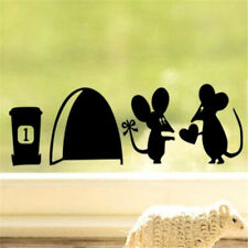 Home Decor Craft Stickers Bedroom Toilet Wall DIY Sticker ~Cute Mouse~☆