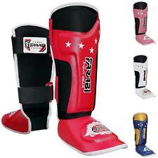 Farabi T tech Kids junior shin pads instep training mma kick boxing protector