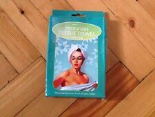 Microfibre Turbie/Hair Towel.The wrap that won't fall off your head! Bath Cap