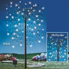 Solar Powered 200 Multi-Colored LED Weeping Willow Branch Tree Garden Decoration