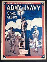 1918 Original Sheet Music Patriotic Americana Military Army Navy WWI Liberty