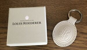 LOUIS ROEDERER  Champagne LEATHER TAG  keyring  BRAND NEW IN BRANDED GIFTBOX