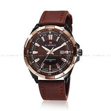 Naviforce Army Sport Wrist Watch Analog Fashion Mens Gent Date Leather  9056 Hot