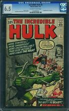 Hulk #5 CGC 6.5 1963 Avengers! E3 124 1 cm clean looking - no writing on cover!