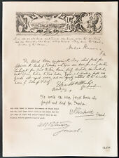 1926 - Lithographie Lord Plumer, Viscount Allenby, William Birdwood, Roberston.