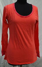 Zumba Gear Top L NWT Hot Coral Cheeta Reds NWT Long Sleeve Exercise Shirt Womens