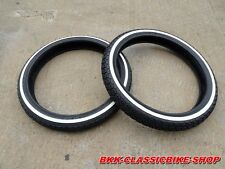 Honda CUB C50 C65 C70 C90 CM90 CM91 F+R Tyre Tire White Wall 17X2.25 / 17X250 2p