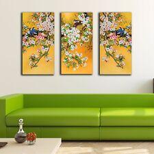 3 Panels 30×60×3cm Oriental Birds Canvas Prints Framed Wall Art Decor Painting