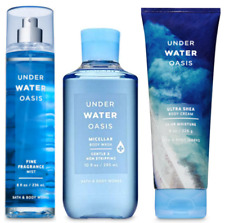 3pc Bath & Body Works UNDERWATER OASIS Fragrance Mist-Shower Gel-Body Cream NEW