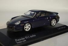 Minichamps 1/43 Porsche 911 turbo techno violet in Plexi-Box #6464