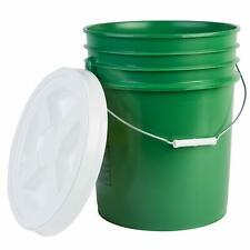Hudson Exchange Premium 5 Gallon Bucket with Gamma Seal Lid, HDPE, Green