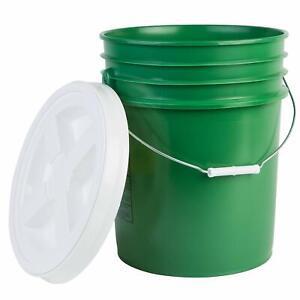 Hudson Exchange Premium 5 Gallon Bucket with Gamma Seal Lid, HDPE, Green