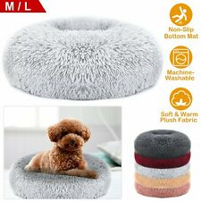 Us Donut Cuddler Pet Calming Bed Dog Beds Soft Warmer For Medium Small Dogs Cats