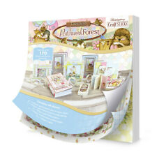 """22 Foiled Sheets 8"""" x 8"""" Hunkydory Tales from Patchwork Forest Craft Stack"""